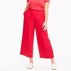 J.Crew wide leg crop pant in 365 crepe Size 16
